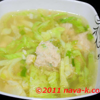 Minced Chicken & Cabbage Soup