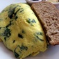 Basic Traditional Omelet with Spinach and Cheese