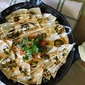 Beer Cheese Nachos with Candied Jalapenos and Lime Crema