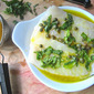 Grilled Halibut w/ Lemon Basil Vinaigrette