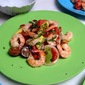 Roasted Shrimp Salad with Heirloom Cherry Tomatoes and Avocado
