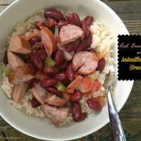 Red Beans & Rice with Andouille Sausage {Crockpot}