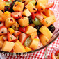 Fresh Fruit Salad with Lime and Mint Dressing