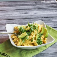 Macaroni and Cheese: Penne Pasta with Cheddar Cheese, Avocado and Lime; Review of Melt