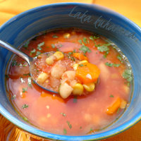 Soup with beans and corn