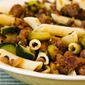Rustic Pasta Sauce Recipe with Italian Sausage, Zucchini, and Sage