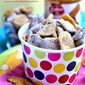 Chocolate Biscoff Puppy Chow with Banana Chips