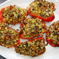 Quinoa-Stuffed Peppers with Corn, Feta & Herbs