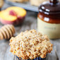 Honey Peach Muffins with Oat Streusel Topping