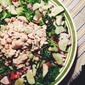 Easy and Light Chicken Salad with Fresh Salad Greens