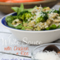 Recipe Connection: Gluten-Free, Protein-Packed White Sauce with Chicken and Rice