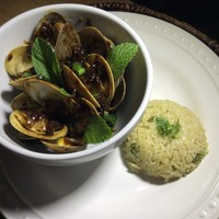 Spicy Golden Clams (Kam Heong) with Creamy Basil Rice