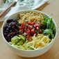 Black bean and avocado quinoa bowl