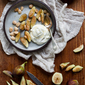 BACKYARD FIGS WITH GREEK YOGURT, MARCONA ALMONDS + HONEY