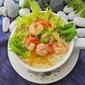 Lemon Garlic Shrimp Rice Porridge