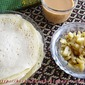 Soru Chakli Pithe with Sada Aloor Chorchori / Rice flour Pancakes with a simple Potato curry