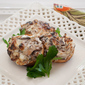 Mushroom Appetizers – Cheesy Mushrooms and Bacon on Toasts