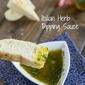 Italian Herb Dipping Sauce