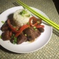 Ginger Soy Black Angus Beef With Artichoke Rice