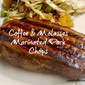 Coffee & Molasses Marinated Pork Chops