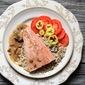 Salmon with Wild Mushroom Sauce ~ A Recipe Redux