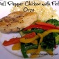 Bell Pepper Chicken with Feta Orzo