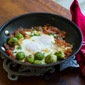 Eggs with Brussels Sprouts & Tomatoes