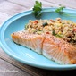 Baked Salmon & Balsamic Quinoa Salad with Zucchini and Pine Nuts