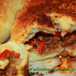 Sausage Mushrooms Peppers Calzone
