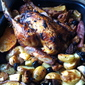 Greek Inspired Roast Chicken with Bread