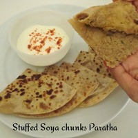 Stuffed Soya chunks Paratha