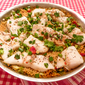Skillet Orzo with Orange Roughy and Herbs