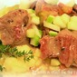Pork, Mushroom & Apple Stew with Apple-Potato Mash
