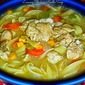October Secret Recipe Club...Lemony Chicken Noodle Soup from A Fit and Spicy Life