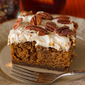 Drunken Pumpkin Gingerbread Snack Cake
