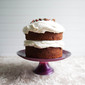 pumpkin cake + maple cream cheese frosting