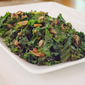 Tender Sauteed Kale with Garlic Chips