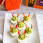 Devilish Avocado Sriracha Deviled Eggs Recipe