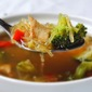 Spaghetti Squash, Chicken & Broccoli Soup with Cinnamon