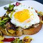 Brussels Sprouts and Egg Toast