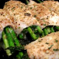 Rolled Chicken with Cheese Asparagus filling Recipe by Shalina ...