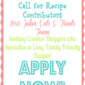 Call for Recipe Contributors!