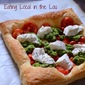 Puff Pastry Pizza with Arugula Pesto