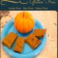 Pumpkin Pudding Bars- Grain Free