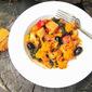 Greek Cauliflower Stifado w/ Kale & Olives (Fall Vegetable Stew)