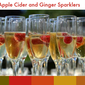 Apple Cider and Ginger Sparklers – Fall Cocktail
