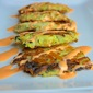 Zucchini and Potato Pancakes with Roasted Red Pepper Cream