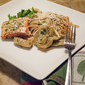 Salmon Fillets with Lemony Artichokes and Pasta