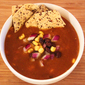 Vegetarian Tortilla Soup with Black Beans