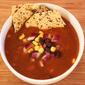 Vegetarian Tortilla Soup with Black Beans